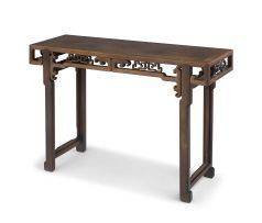 A Chinese homu painting table, Qing Dynasty, 19th century