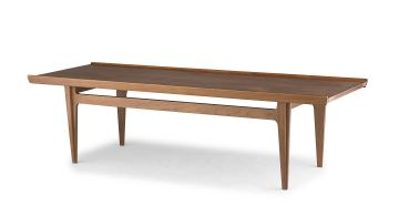 A Danish teak coffee table designed in the 1960s by Finn Juhl for France and Søn