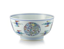 A Chinese Doucai bowl, Qing Dynasty, 19th century