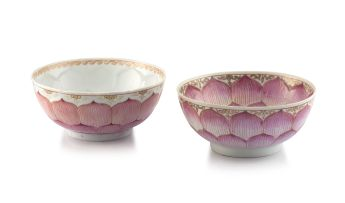 A Chinese famille-rose 'lotus' bowl, Qianlong period, 1735-1796