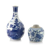A Chinese blue and white jar, Qing Dynasty, 17th/18th century