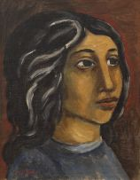 Wolf Kibel; Portrait of a Young Woman