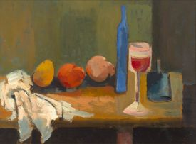 Cecil Skotnes; Still Life with Fruit and Wine