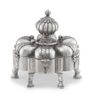 An Indian silver spice box, 19th century