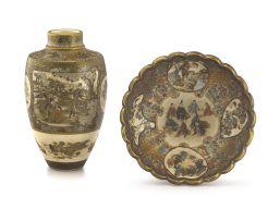 A Japanese Satsuma vase, Meiji period, 1868-1912