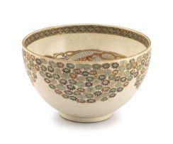 A Japanese Satsuma bowl, Meiji period, 1868-1912