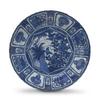 A Chinese blue and white 'Kraak' dish, Ming Dynasty, Wanli period, 1573-1619