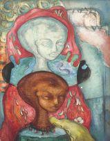 Alexis Preller; Two Urn Heads