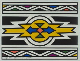 Esther Mahlangu; Ndebele Pattern