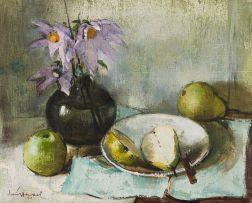Irmin Henkel; Still Life with Pears