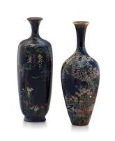 A Japanese cloisonné enamel vase, Ota Kichisaburo, Meiji period, 1868-1912