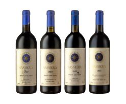 Tenuta San Guido; Sassicaia Collection; 87/89/93/97; 4 (1 x 4); 750ml