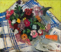 Freida Lock; Still Life with Flowers