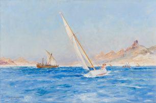 Frank Henry Mason; Sailboats on the Bay