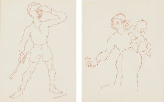 John Dronsfield; Figure Sketches, two