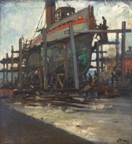 Dorothy Kay; Tug 'Talana' on the Slipway