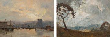 Titta Fasciotti; Cloudy Sky; Harbour Scene, two