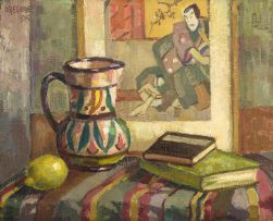 Gregoire Boonzaier; Still Life with Lemon, Jug and Books