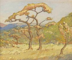 Walter Battiss; Landscape with Trees