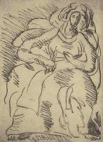 Irma Stern; Seated Woman