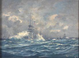 George William Pilkington; A Destroyer off the Coast
