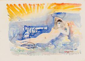 Braam Kruger; Maya and Gun at Sunset