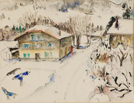 Maud Sumner; Snow with Chalet