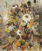 George Enslin; Still Life with Proteas