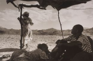 Guy Tillim; Displaced People in a Shelter they Have Built near Keren, Eritrea, during the Eritrea/Ethiopia War, May 2000