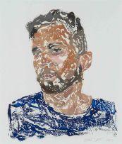 Frans Smit; Portrait of a Man in Blue