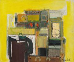 Sidney Goldblatt; Abstract Composition in Yellow