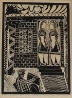 John Muafangejo; Two Sisters Room