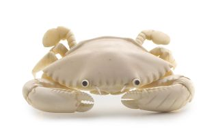 A Japanese ivory figure of a crab, Meiji period, 1868-1912