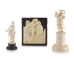 A French ivory plaque, 19th century