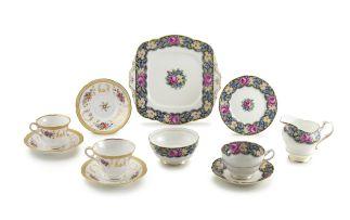 A Paragon 'Gingham Rose' pattern part tea set, 20th century