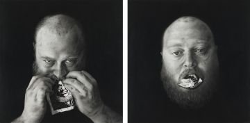 Henk Serfontein; Purging Paul Kruger (Pierneef Deconstructed) I and II, two