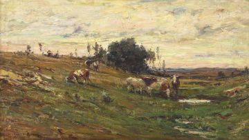 Adriaan Boshoff; Landscape with Cattle