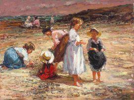Adriaan Boshoff; Children Playing on the Beach