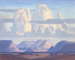 Jacob Hendrik Pierneef; Mountain Landscape with Clouds