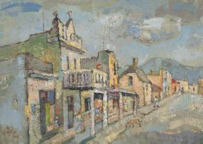 Gregoire Boonzaier; District Six Scene with Dog