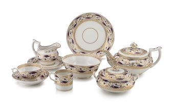 A Bloor Derby part tea and coffee set, 1800-1840