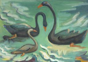 Maggie Laubser; Birds on Water