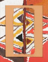 Durant Sihlali; Abstract in Orange and Brown