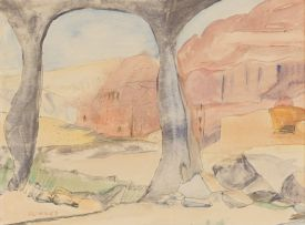 Maud Sumner; Landscape with Arches