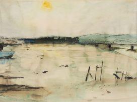 Maud Sumner; River at Dusk