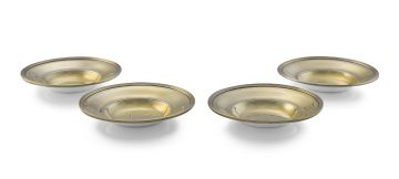 Four George III silver-gilt dishes, Robert Hennell I & David Hennell II, London, 1800