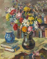 Gregoire Boonzaier; Still Life with Vase of Flowers
