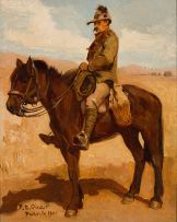 Frans Oerder; Mounted Colonial Soldier