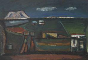 Pranas Domsaitis; Figures in a Karoo Landscape