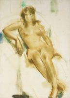 Clement Serneels; Seated Nude